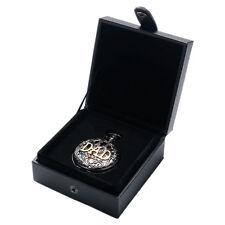 Simple Display Case Black Leather Pocket Watch Box Gift Box Elegant Foam Pad New