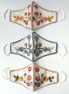 Women/Children Designer Indian Embroidered Mask Design A