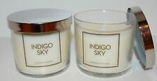 LOT OF 2 BATH & BODY WORKS INDIGO SKY SCENTED CANDLE 4 OZ 1 WICK SMALL RARE NEW