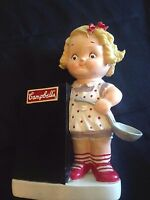 """Rare Old Campbell's Soup Co.10"""" Resin Campbell Kid Chef Piggy Bank Chalkboard"""