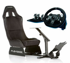 Playseat Evolution Alcantara PKG920ALCAN Racing Wheel Seat Bundle