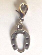 charms argentée porte bonheur fer à cheval 19x12 mm