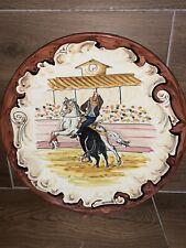 Plato Torero (bullfighter) 30cm Diámetro. Pintado A Mano Talavera