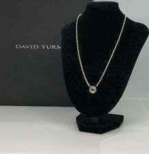 "David Yurman-Sterling silver & 14k Gold ""Cookie"" Pendant Necklace W/ Onyx"