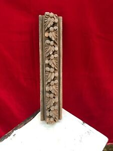 Ancient Rare Antique Wall Border Design Wooden Panel Architecture Plaque B97
