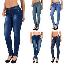 c1f4d59ff305b9 Damen Jeans Hose Damen Skinny Jeanshose Slim Fit Jeans Stretch S800