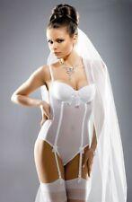 Gracya Naomi White Bridal Body with Removable Straps - UK Size 34A