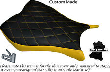 Diamante Stitch Personalizado Amarillo encaja Honda Cbr 1000 Rr 13-15 delantera cubierta de asiento