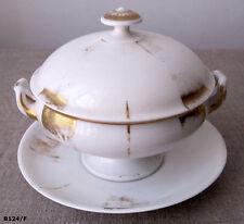 Joli bouillon ancien en porcelaine Vieux Paris - 19ème