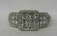 10K SOLID GOLD .75 CT. DIAMOND WEDDING RING BAND SHARP!