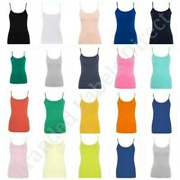 WOMEN'S GIRLS LADIES ADJUSTABLE STRAPS STRETCH CAMI VEST TOP SIZE 8-24 GEORGE
