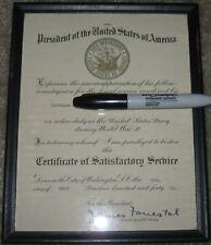 James Forrestal Signed Certificate Of Service Secretary U.S. Navy 1946 Framed