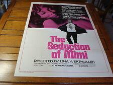VINTAGE MOVIE POSTER---1974 THE SEDUCTION OF MIMI giancarlo giannini