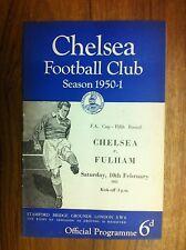 1950/1 Football programme - Chelsea v Fulham 10th February (SP910)