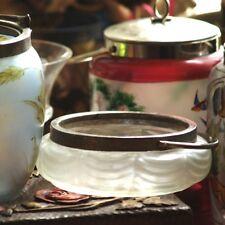 GLASDOSE JUGENDSTIL Bonboniere Dose GLAS irisierend TOP antik