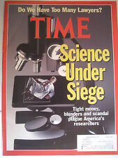 TIME MAGAZINE AUGUST 26, 1991 SCIENCE UNDER SIEGE. DO WE HAVE TOO MANY LAWYERS?