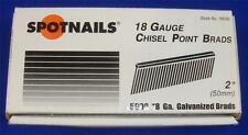 "SpotNails #18532 2"" Chisel Point Brads 18 Gauge Galvanized"