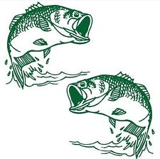 boat sticker decal top quality carbon fiber - 2 fish decal sizes