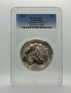 Cook Islands 2018 - Seven Summits - Aconcagua - PCGS MS70 - First Day of Issue