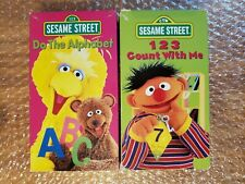 Sesame Street 123 Count With Me VHS+ Do the Alphabet- Lot of 2 PBS KIDS Rare OOP