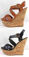 New Cork Wedge Strappy Sandal Platform Fashion Womens Shoes