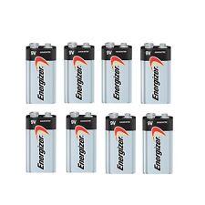 Energizer Batteries 9V Max 522 9 Volt Alkaline 8 bulk pack(new)