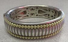 Stunning Caviar Brand 18k Gold & Sterling Silver bangle Bracelet Make Offer