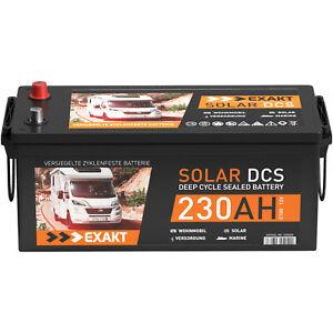 Solarbatterie 12V 230Ah EXAKT DCS Wohnmobil Versorgung Boot Batterie 220Ah 200Ah