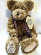 "Boyds Bears Brown Plush Jointed Teddy Bear ""Burke"" Signed By Bob Derr"