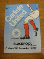 26/12/1975 Carlisle United v Blackpool  . Footy Progs (aka bobfrankandelvis) are