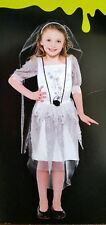 Girls Corpse Bride Zombie Costume Childs Halloween Fancy Dress Outfit Age 7-8