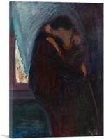 ARTCANVAS The Kiss 1897 Canvas Art Print by Edvard Munch