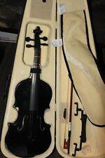 Vintage? Black Metallic 4/4 Violin Mendini By Cecilio  MV