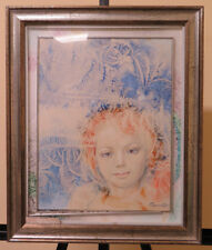 PAINTING VINTAGE PORTRAIT SIGNED WINNER FIRST PREMIO CONCORSO PAINTING 1992 P27