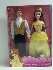 2010 Rare NIB Mattel Disney Princess Belle & Prince Doll Set