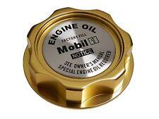 GOLD MOBIL 1 M7-STYLE JDM CNC BILLET ENGINE OIL FILLER CAP FOR HONDA ACURA