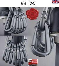 6 x Aluminum Carabiner D-Ring Key Chain Clip Snap Hook Karabiner Camping Keyring