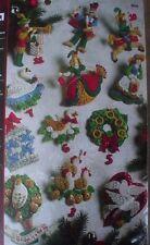 Bucilla 12 Days of Christmas Felt Ornament Kit,PARTRIDGE IN A PEAR TREE,86066