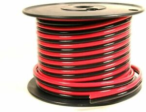 Powerwerx 25ft Spool AWG 2 Red and Black Zip Cord Easy ID Low Voltage Cable