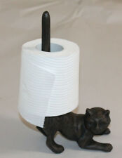 Cast Iron Yoga Cat Toilet Paper Holder Tissue Rack Bathroom Decor