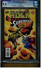 SUPERMAN VS. HULK #1 CGC 9.8 MINT WHITE PAGES 1999 DC MARVEL COMICS BATTLES BLUE