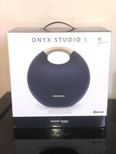 BRAND NEW SEALED Harmon Kardon Onyx Studio 5 NAVY BLUE Bluetooth Speaker