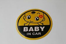Baby In Car Baby on board Baby Girl Car Safety Decal Sticker