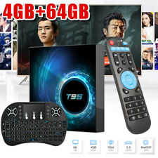 T95 Android 10 4+64G 6K Smart TV Box Quad Core 3D 2.4G WiFi Lettore multimediale