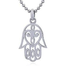 Silver Pendant Genuine 925 Sterling Jewelry Handmade Hamsa Hand Heart Jewellery