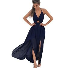 2018 New Women BOHO Floral Print Beach Dress Sleeveless Maxi Dress Party Dress