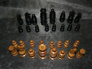Ancien Jeu d'échecs Régence bois - dimensions roi 9 cm - légers défauts - Chess