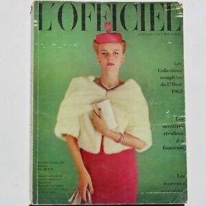 1962 L'Officiel Paris Haute Couture Collections fashion magazine 60s vintage