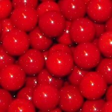 "Mega Fun One Dozen 1"" (25mm) Opaque Red Glass Marbles 66416134"