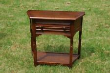 Petite Oak Hall Table Console Table Bedside Unit Wash Stand